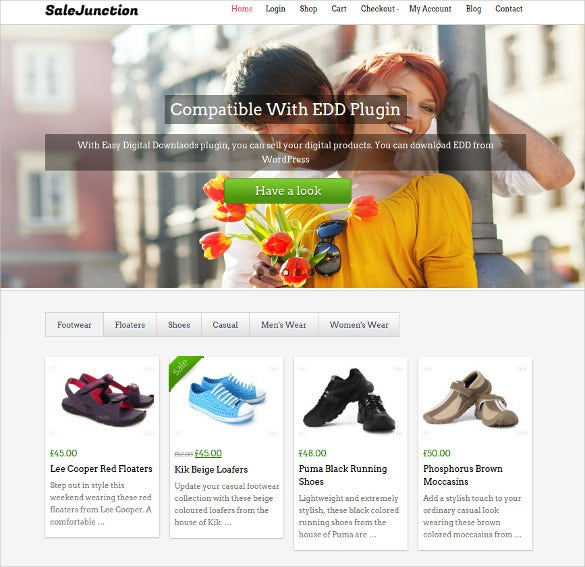 sale junction marketplace wordpress template
