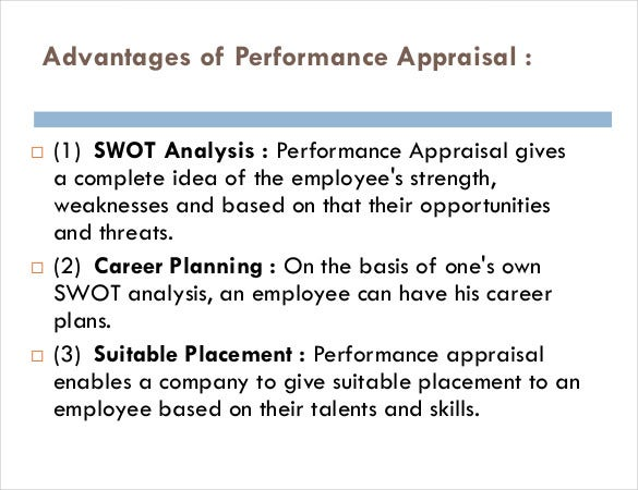 swot analysis employee performance appraisal