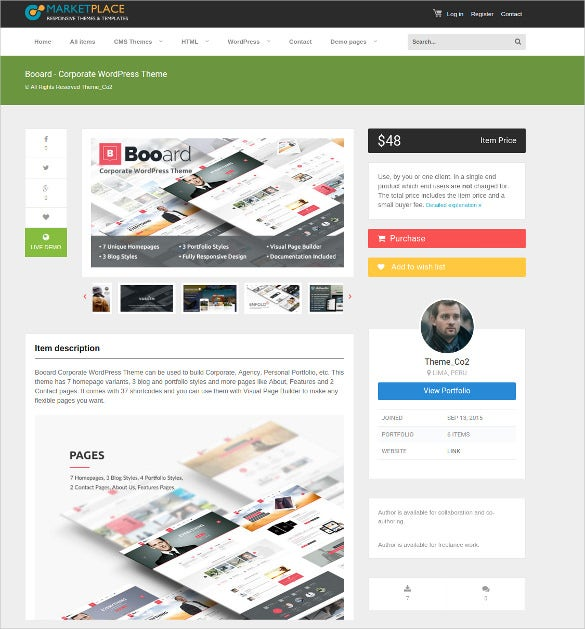 corporate marketplace wordpress theme