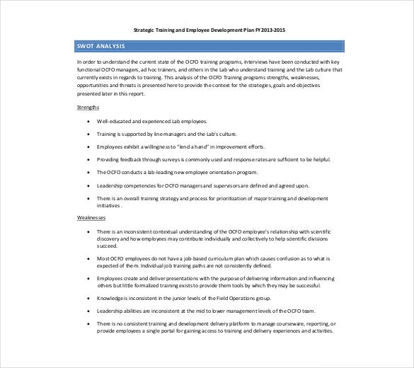 swot analysis for employee training and development1