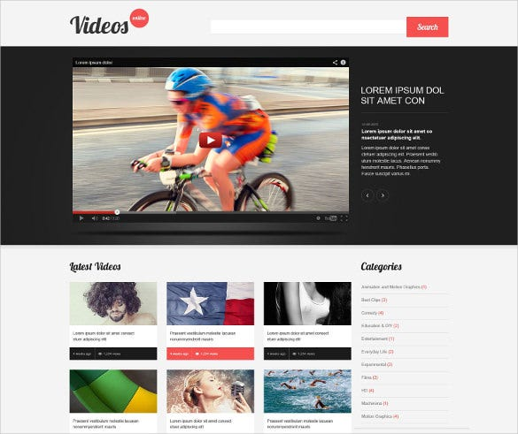 video content sharing wordpress theme