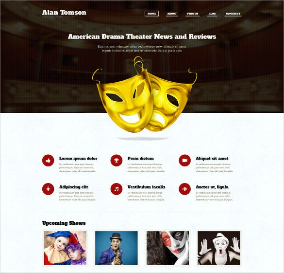 personal blog content sharing wordpress template