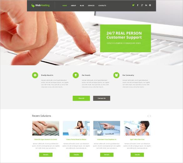 hosting responsive content sharing wordpress template