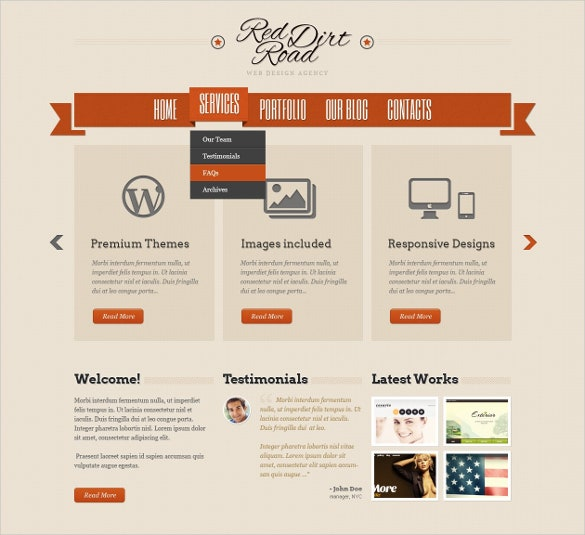 design studio content sharing wordpress theme