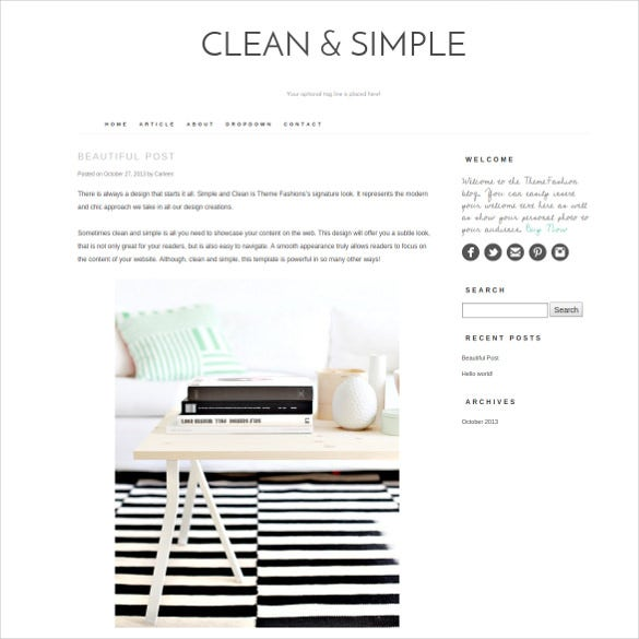 clean simple content sharing wordpress templat