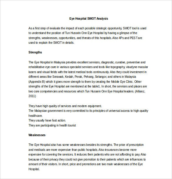 Doc768994 Example Swot Analysis Paper Harvard style essay – Example of a Swot Analysis Paper