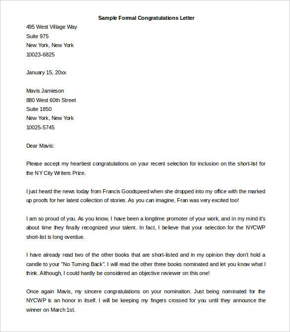 31 best formal letter template free sample example format free