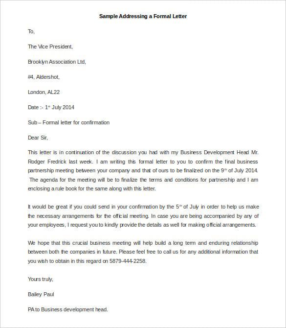 Formal letter format date spiritdancerdesigns Gallery
