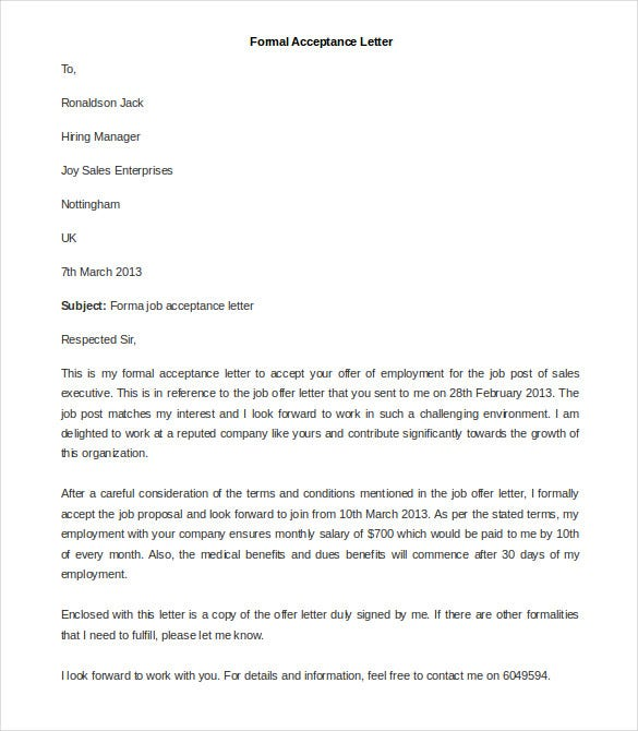 31+ Best Formal Letter Template - Free Sample, Example Format ...