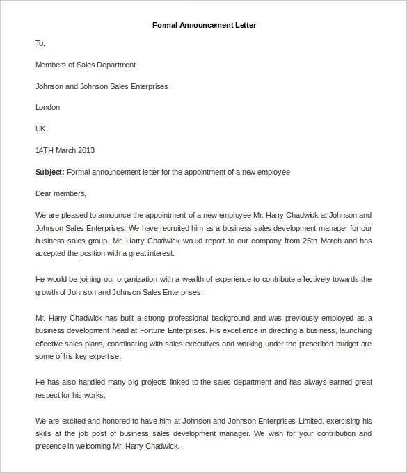 Sample Formal Letter Government Official Letter Sample Http