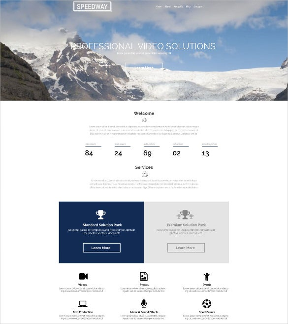 videographer multimedia wordpress template