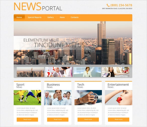 news portal multimedia wordpress theme