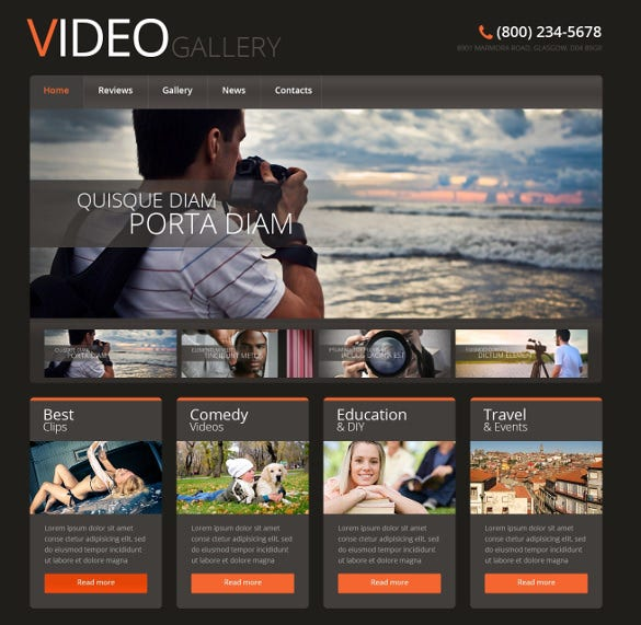video gallery multimedia wordpress template