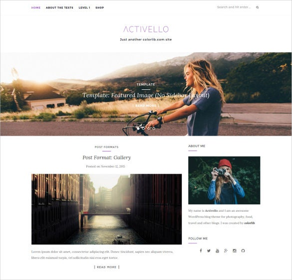 free video blog multi purpose wordpress template