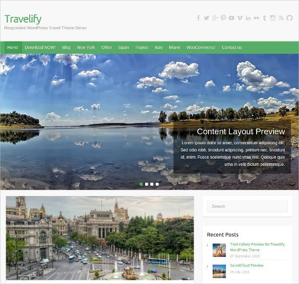 free travel video wordpress template