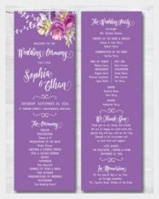 Attractive Wedding Program Template