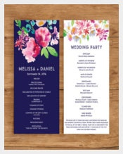 Floral Wedding Program Template