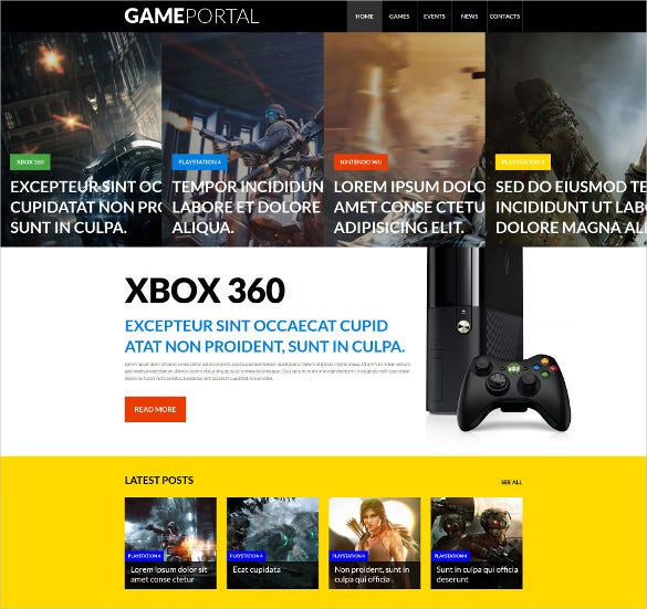 online video gaming wordpress theme