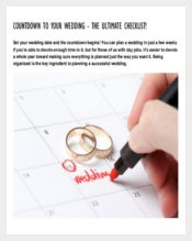 Easy To Edit Wedding List Template