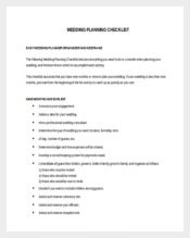 Easy To Edit Wedding Checklist Template