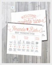 Weekend Wedding Itinerary Template