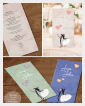 Lovely-air Wedding Menu