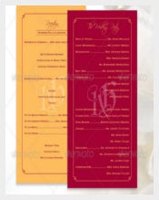 Print Ready Wedding Program Template