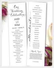 Simple & Clear Wedding Cermony Template