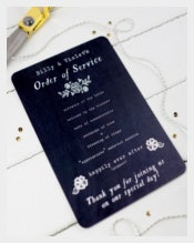 Colorful Wedding Order of Service Template