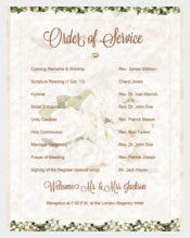 Easy To Download Wedding Order of Service Template