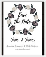 Roses Theme Wedding Card Template