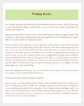 Best Wedding Planner Template