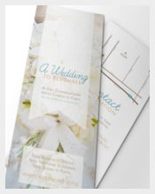 Beautiful Wedding Brochure Template