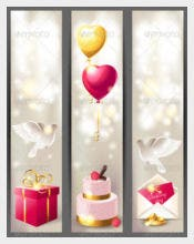 Vertical Wedding Banner Template