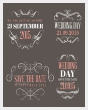 Colorful Wedding Label Template