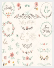 White Background Wedding Labels