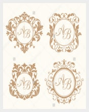 Set of Wedding Logo Templates
