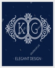 Two Letters Wedding Logo Design