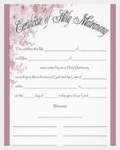 ink Background Wedding Certificate Template