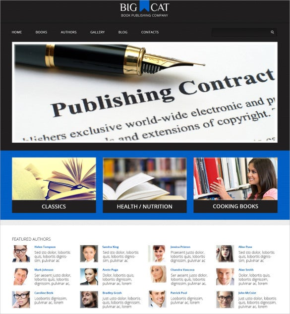 publishing company responsive wordpress teemplate