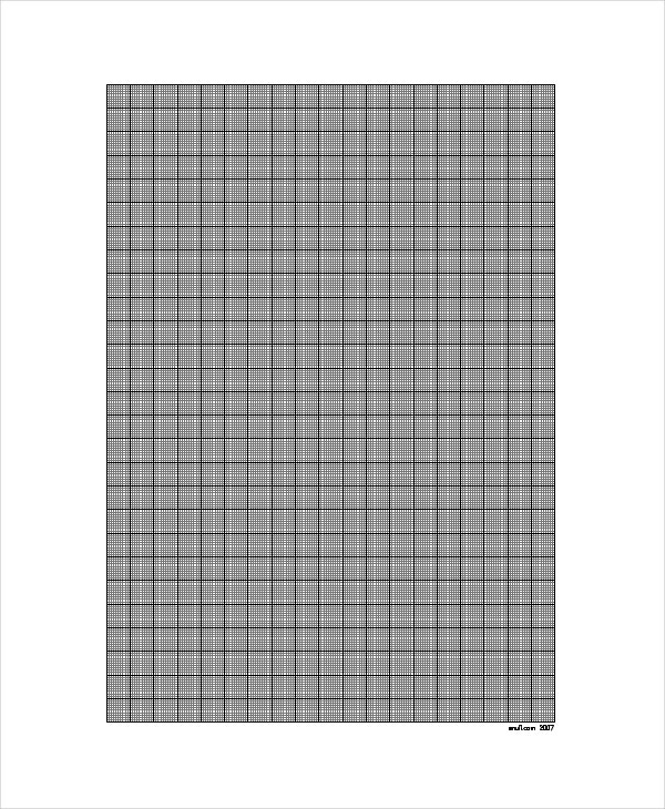 1mm Square Graph Paper Template