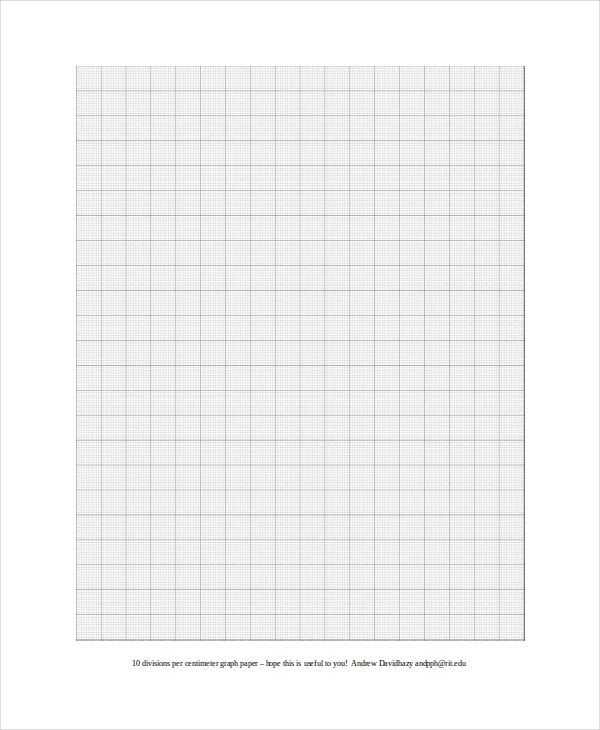 Centimeter Graph Paper Template
