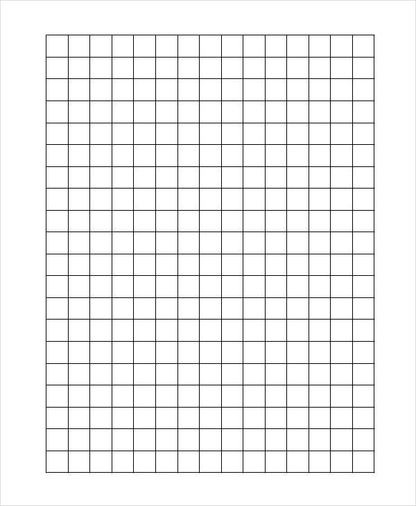 Plain Graph Paper Template