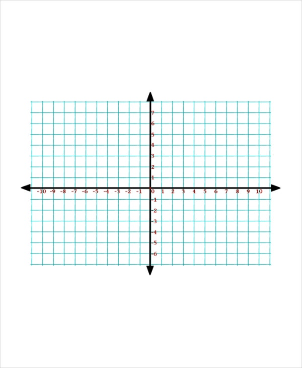 Plane Graph Paper Template  Graph Paper Word Document