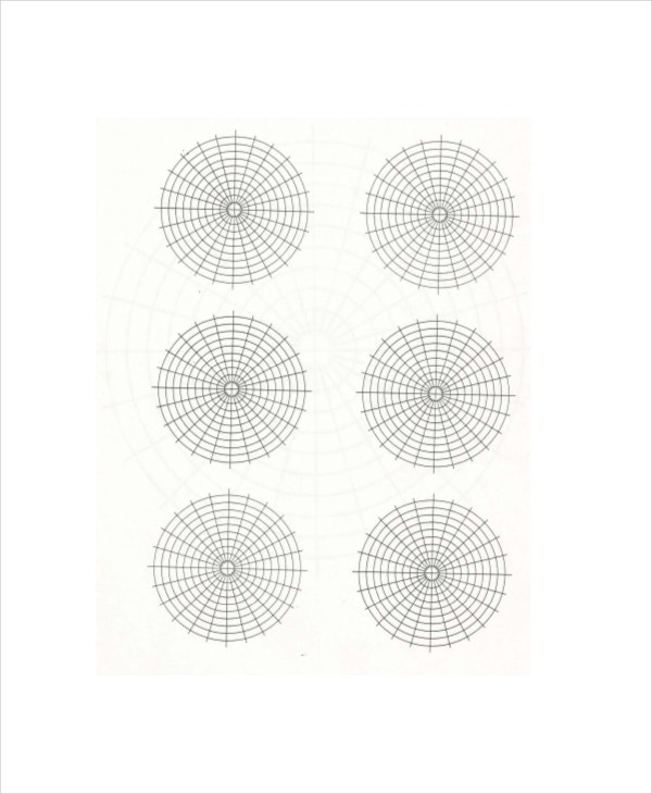 Polar Graph Paper Template  Graph Paper Word Document