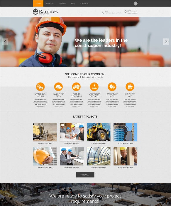 best word press theme for construction company