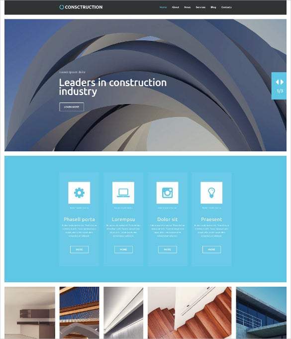 industrial wordpress theme for construction company