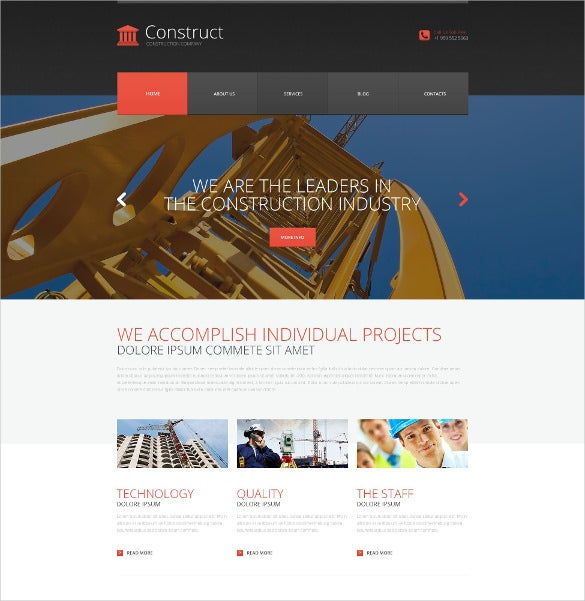 skyscraper construction wordpress theme