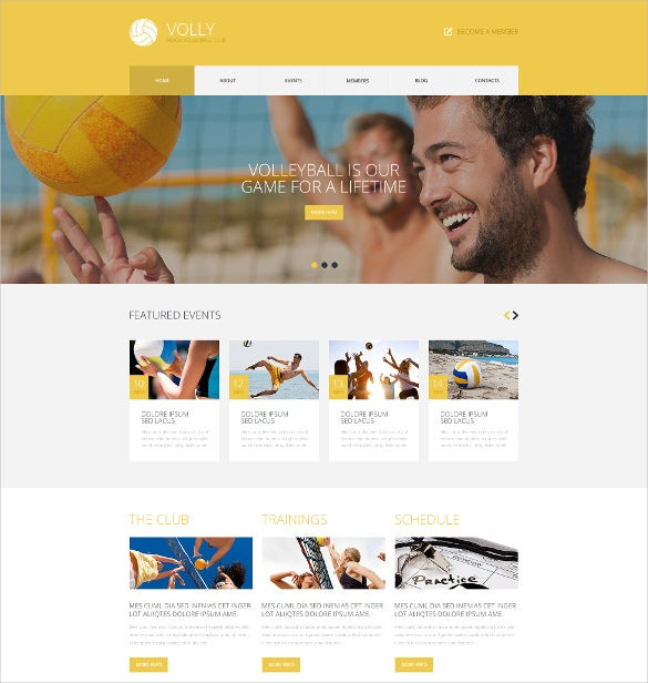 wordpress theme for vollyball clubs
