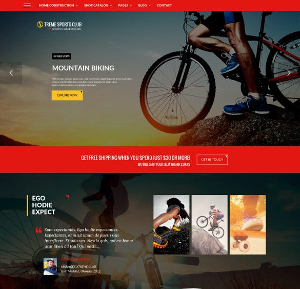 wordpress theme for sports club